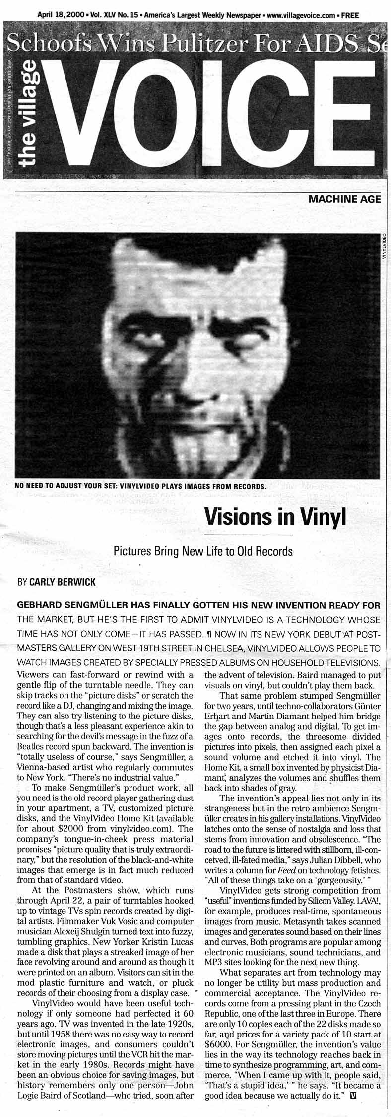 VinylVideo reviews, print and web media